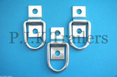 3 x Ring & Staple Lashing Rings Trailer Cover Bungee Cord Rope Tie Down  #BH204S