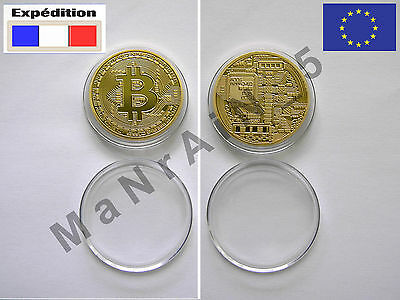 Bitcoin Gold Plated Coin (Pièce Medaille Medal Pieza Pezzo Medalla) Geek Gift