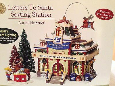 """Dept 56  North Pole """" Letters To Santa Sorting Station """" Brand New ,very Rare!!"""