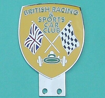 British Racing & Sports Car Club Bar Badge, Excellent Mint Condition