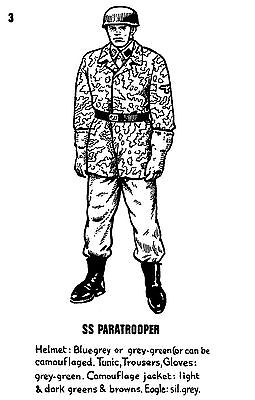 POSTCARD  MILITARY  SS  Paratrooper