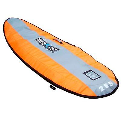 Tekknosport Boardbag 260 XL 90 (265x90) Orange Windsurf Board Tasche Flat Bag