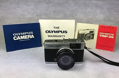 Olympus Trip 35 Camera + 2 x Lens Filters Skylight / Vintage / Retro / Classic
