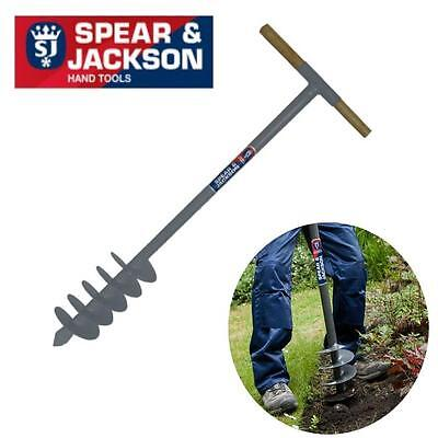 """Spear And Jackson Post Hole Auger 6"""" Holes Garden Fence Digger Borer"""