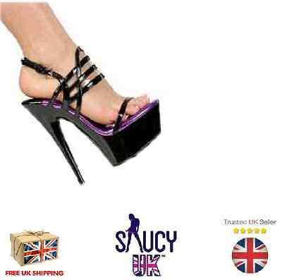 Layla Black Platform Shoes - Stiletto - High Heels - 2 3 4 5 6 7 - UK Seller