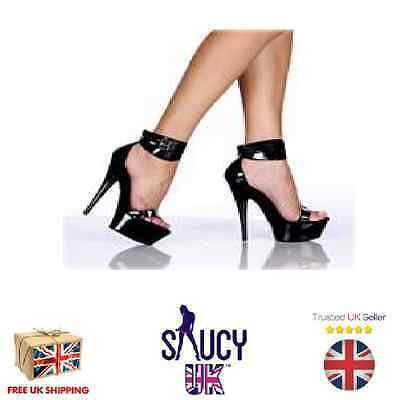 Diana Black Platform Shoes - Stilettos - 2 3 4 5 6 7 - High Heels - UK Seller