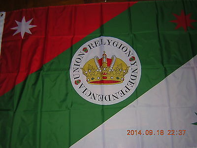 NEW reproduced Flag of the Iturbide's Infantry Mexican Flag Mexico Ensign 3X5ft
