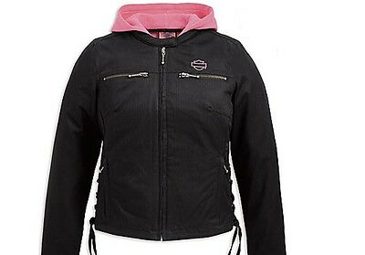 Harley Davidson Women's Pink Label 3-in-1 Casual Jacket with Vest  SMALL