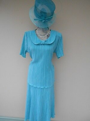 Special occasion Outfit Size 18 by 'Bassini' with Matching Hat.