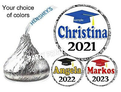 108 CLASS OF 2020 BLACK GRADUATION Party Favors Stickers Labels for Hershey Kiss