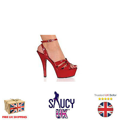 Delilah Red Platform Shoes - Stilettos - High Heels - 2 3 4 5 6 7 - UK Seller