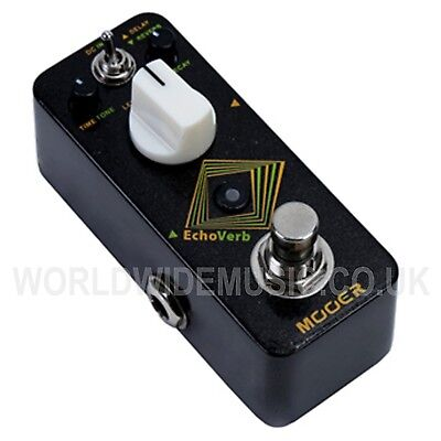 Mooer Micro Series EchoVerb Digital Delay and Reverb Effects Pedal