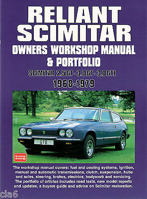 Reliant Scimitar Owners Workshop Manual and Portfolio 1968-79  *NEW