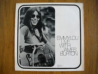 Emmylou Harris with James Burton EH1  Rare White label Live LP