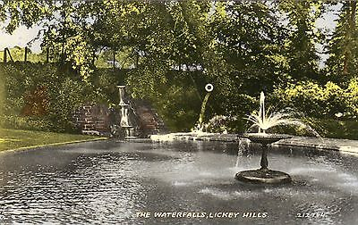 1950's Lickey Hills (near Bromsgrove) postcard. (The Waterfalls)