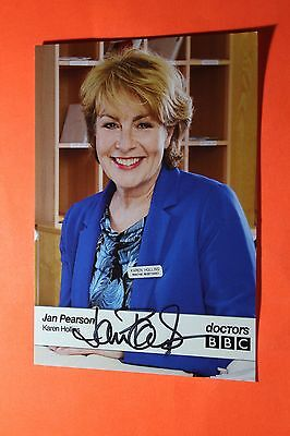 Jan Pearson (Doctors) Signed Cast Card