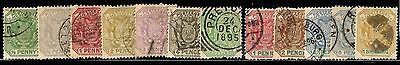 Transvaal QV issues  to 1/- - good postmarks - lovely Pretoria 24 Dec 1895