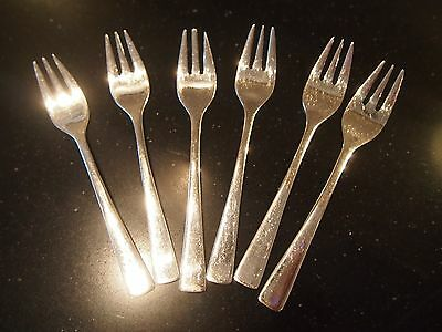 Set of 6 silver plated cake forks Sola