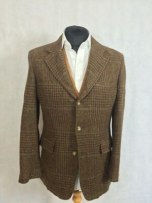 Genuine Vintage Harris Tweed Jacket/Blazer Brown 40 Chest Beautiful Lining P463