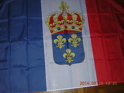 Flag of  the Constitutional Kingdom of France French Ensign Royal Standard 3X5ft