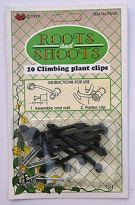 10 x Climbing Plant Clips Fix Plant Support With Nails
