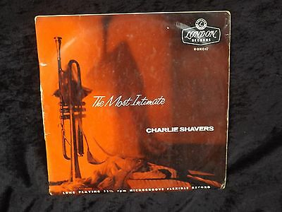 """CHARLIE SHAVERS the most intimate 10"""" UK LONDON H-BN1047 RARE jazz LP"""