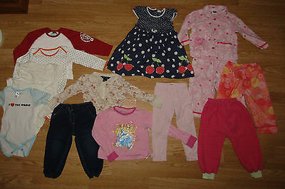 14 ITEMS - Bundle of Girls' Clothes 18 -24months (up to 2 years) / 86cm-92cm