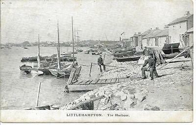 Vintage Early Postcard.littlehampton, The Harbour. West Sussex Posted 1904