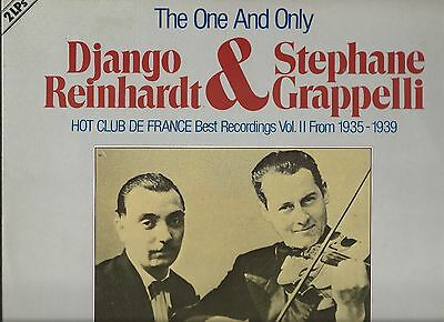 LP X 2 Django Reinhardt & Stephane Grappelli THE ONE AND ONLY DOUBLE VG + VINYL