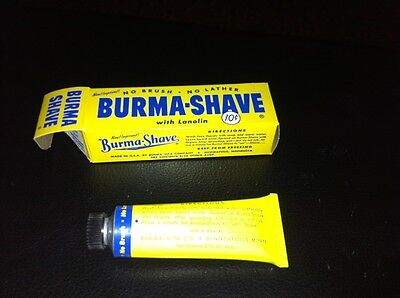 Burma Shave Tube of Shave Cream New Old Stock unopened box with directions 1954
