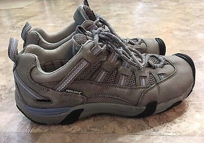 Keen Women's Athletic Walking Shoes Gray Blue Leather 8.5