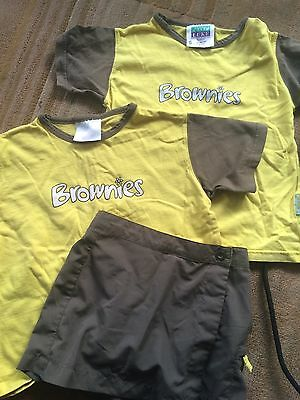 Brownie Uniform T Shirts And Skort Age 7-8-9