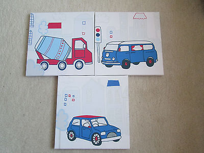 Boys Vehicle Wall Canvases
