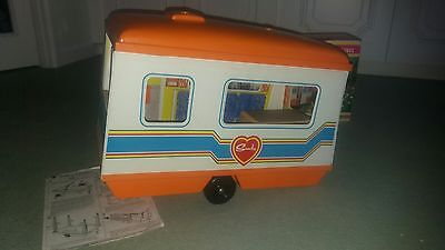 Vintage Sindy doll caravan with box and instructions