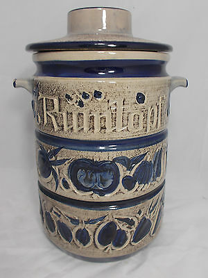 Vintage Rumtopf Rum Preserving Storage Jar With Handles & Lid West Germany