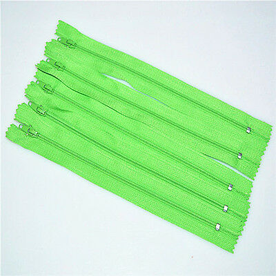 Green Apple 5pcs Nylon Coil Zippers Tailor Sewer Craft 9 Inch Crafter's DIY!