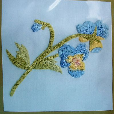 Pansy  Flower DMC Floral Embroidery Collectable Kit Ideal for Beginners