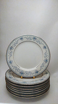 "Noritake Blue Hill 2482 Set of EIGHT 6 1/4"" Bread & Butter Plates"