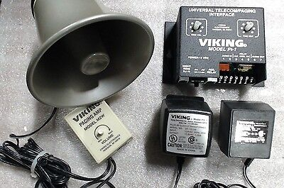 Used Viking paging horn 25AE210 - amp M2W & universal interface PI-1
