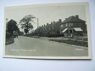 Wantage Road Didcot Real Photo RP Postcard showing W Jones Shop