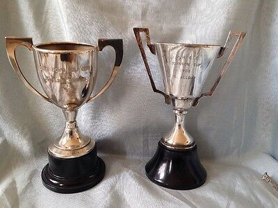 Two Beautiful Vintage Classic Silver Plate Trophy Cups
