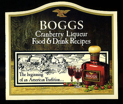 Boggs Cranberry Liqueur Food & Bar Drink Recipes Cookbook Heublein Advertising