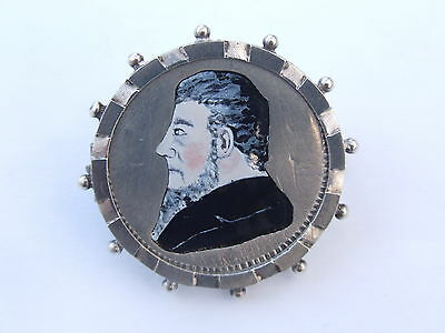 Enamelled Coin ,  South Africa  2 Shillings 1894 In Silver Brooch Mount