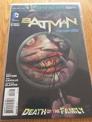 Batman #13 Variant Death Of The Family Signed By Scott Snyder New 52 Dc Comics