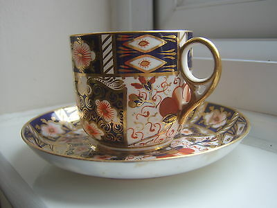Antique Royal Crown Derby imari peony cup and saucer for restoration