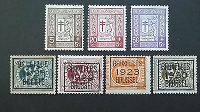 Belgium 1921-31 issues ...Mint light hinged, clean stamps