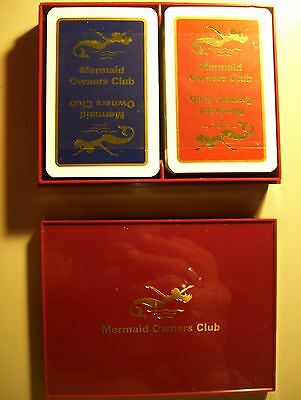 Mermaid Owners Club Double Deck Of Cased Playing Cards.(New=Mint)
