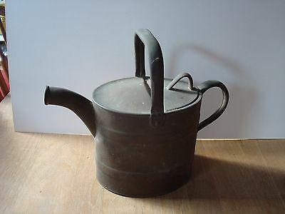 "Vintage Brass J.s.&s. Hinged Lid Watering Can 3.5 Pint  11"" Across And 9 "" High"