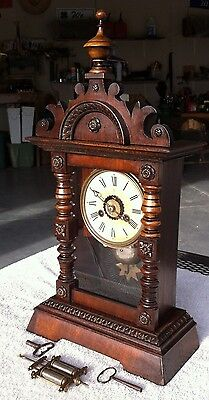1900's Antique Junghans German Mantel Shelf Clock Working Beautifully with Alarm