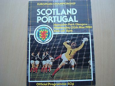 Scotland V Portugal Mar 1980